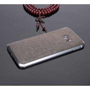 Экстратонкая клеевая кожаная накладка для HTC 10