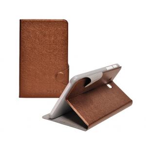 Чехол подставка с застежкой на пластиковой основе серия Glossy Shield для планшета Lenovo S5000 Коричневый