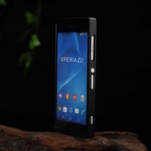 Металлический двухкомпонентный сборный бампер для Sony Xperia Z2 Черный