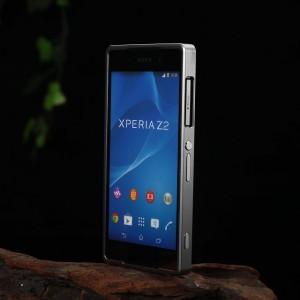 Металлический двухкомпонентный сборный бампер для Sony Xperia Z2 Серый