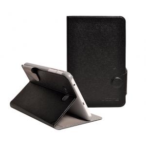 Чехол подставка с застежкой на пластиковой основе серия Glossy Shield для планшета Lenovo S5000 Черный