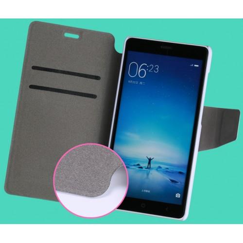 Чехол горизонтальная книжка подставка на пластиковой основе с отсеком для карт и полноповерхностным принтом на дизайнерской магнитной защелке для Xiaomi RedMi 3 Pro/3S