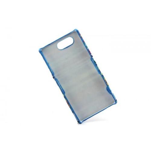 Пластиковый непрозрачный матовый чехол с тканевым покрытием для Sony Xperia Z3 Compact