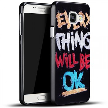 Силиконовый матовый непрозрачный чехол с принтом для Samsung Galaxy A3 (2016)