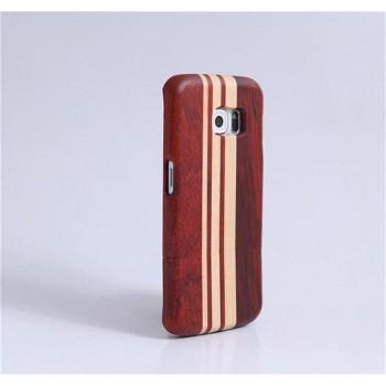 Натуральный деревянный чехол сборного типа с лазерным принтом для Samsung Galaxy S6 Edge