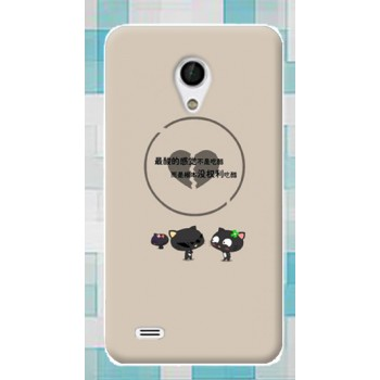 Силиконовый матовый непрозрачный чехол с принтом для Alcatel OneTouch Go Play