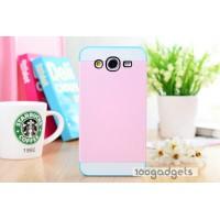 Двуцветный силиконовый чехол для Samsung Galaxy Mega 5.8 Розовый