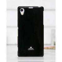 Силиконовый глянцевый чехол для Sony Xperia Z1 Черный