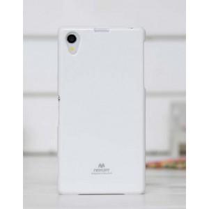 Силиконовый глянцевый чехол для Sony Xperia Z1 Белый