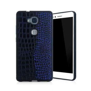 Силиконовый матовый непрозрачный чехол с текстурным покрытием Кожа для Huawei Honor 5X