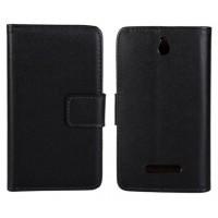Чехол книжка-портмоне для Sony Xperia E dual Черный
