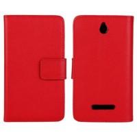 Чехол книжка-портмоне для Sony Xperia E dual Красный