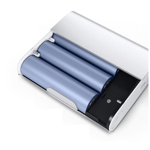 Портативное зарядное устройство в матовом металлическом корпусе 20800 mAh Голубой