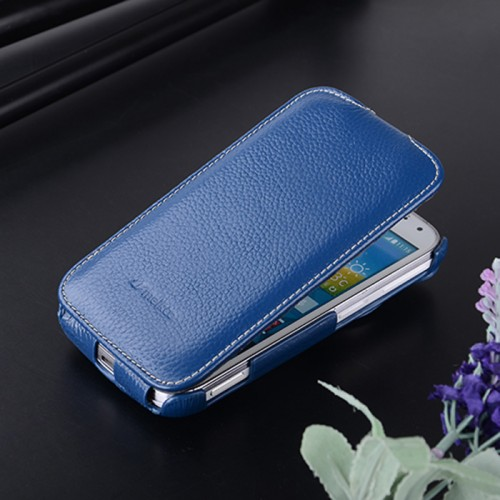 Кожаный чехол вертикальная книжка для Samsung Galaxy K Zoom