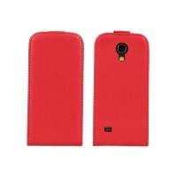 Чехол книжка вертикальная для Samsung Galaxy S4 Mini Красный