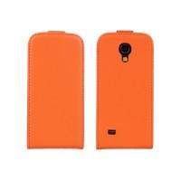 Чехол книжка вертикальная для Samsung Galaxy S4 Mini Оранжевый