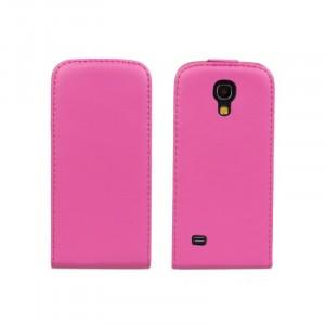 Чехол книжка вертикальная для Samsung Galaxy S4 Mini Пурпурный