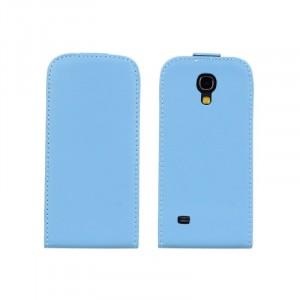 Чехол книжка вертикальная для Samsung Galaxy S4 Mini Голубой