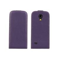 Чехол книжка вертикальная для Samsung Galaxy S4 Mini Фиолетовый