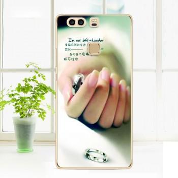 Силиконовый матовый непрозрачный чехол с принтом для Huawei P9 Plus