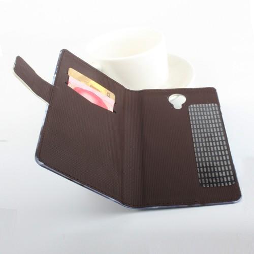 Чехол горизонтальная книжка подставка на клеевой основе с отсеком для карт и полноповерхностным принтом на магнитной защелке для Homtom HT7/Pro/BQ Hammer