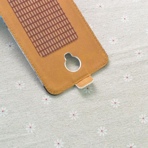 Чехол вертикальная книжка на клеевой основе с полноповерхностным принтом на магнитной защелке для Blackview BV5000