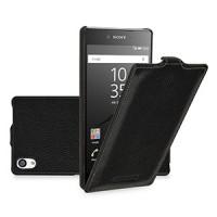 Кожаный чехол вертикальная книжка для Sony Xperia Z5 Premium Черный