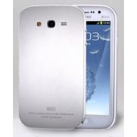 Металлический премиум чехол для Samsung Galaxy Grand / Grand Neo Белый