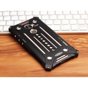 Цельнометаллический противоударный чехол из авиационного алюминия на винтах с мягкой внутренней защитной прослойкой для гаджета с прямым доступом к разъемам для LeEco Le Max 2