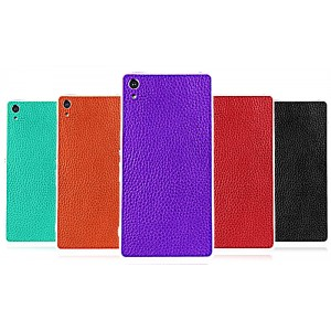 Кожаная наклейка на заднюю поверхность (нат. кожа) для Sony Xperia Z2