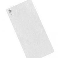 Кожаная наклейка на заднюю поверхность (нат. кожа) для Sony Xperia Z2 Белый
