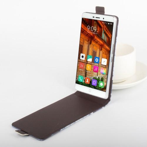 Чехол вертикальная книжка на клеевой основе с полноповерхностным принтом на магнитной защелке для Elephone P9000 Lite