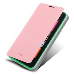 Чехол флип подставка водоотталкивающий для Nokia Lumia 530 Розовый