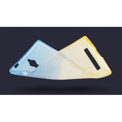 Силиконовый матовый полупрозрачный градиентный чехол для Meizu M2 Note