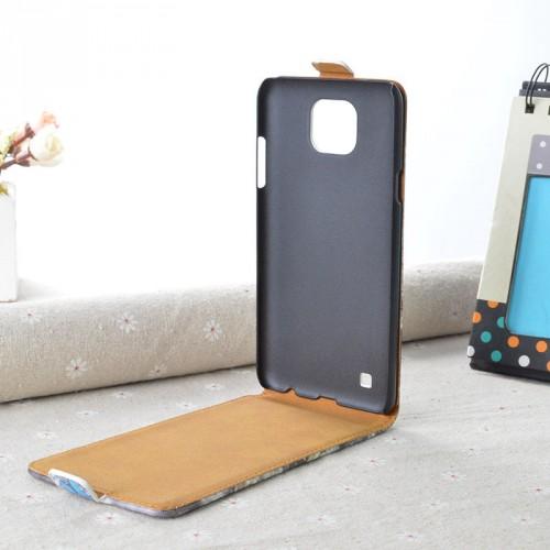 Чехол вертикальная книжка на пластиковой основе с полноповерхностным принтом на магнитной защелке для LG X cam
