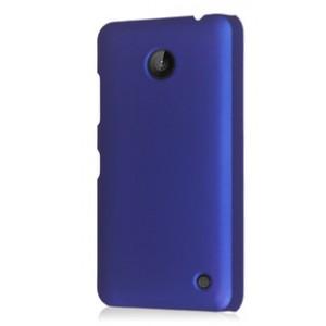 Пластиковый непрозрачный матовый чехол для Nokia Lumia 630 Синий