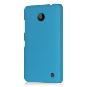 Пластиковый непрозрачный матовый чехол для Nokia Lumia 630 Голубой