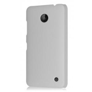 Пластиковый непрозрачный матовый чехол для Nokia Lumia 630 Белый