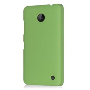 Пластиковый непрозрачный матовый чехол для Nokia Lumia 630 Зеленый