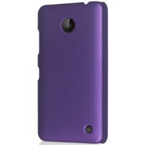 Пластиковый непрозрачный матовый чехол для Nokia Lumia 630 Фиолетовый