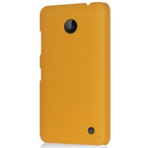 Пластиковый непрозрачный матовый чехол для Nokia Lumia 630 Желтый