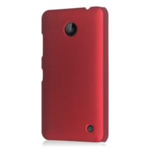 Пластиковый непрозрачный матовый чехол для Nokia Lumia 630 Красный