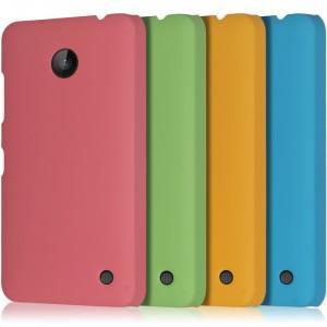 Пластиковый непрозрачный матовый чехол для Nokia Lumia 630