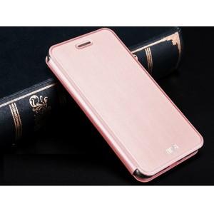 Чехол флип подставка на силиконовой основе текстура Металлик для Xiaomi RedMi 3 Розовый