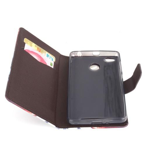 Чехол горизонтальная книжка подставка на силиконовой основе с отсеком для карт и полноповерхностным принтом на магнитной защелке для Xiaomi RedMi 3 Pro/3S