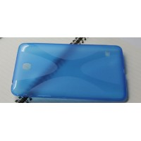 Силиконовый чехол X для Samsung Galaxy Tab 4 7.0 Голубой