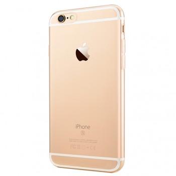 Ультратонкий силиконовый глянцевый транспарентный чехол для Iphone 6 Plus/6s Plus Белый