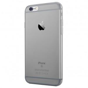 Ультратонкий силиконовый глянцевый транспарентный чехол для Iphone 6 Plus/6s Plus Черный