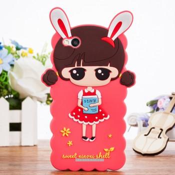 Силиконовый матовый непрозрачный дизайнерский фигурный чехол для Xiaomi RedMi 3