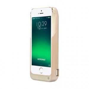 Пластиковый чехол/экстра аккумулятор (4200 мАч) с функцией дополнительного заряда внешних устройств для Iphone 5/5s/SE Бежевый